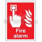 200mm X 150mm Rigid Plastic Fire Alarm Sign