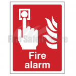 400mm X 300mm Rigid Plastic Fire Alarm Sign