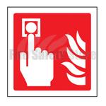 150mm X 150mm Rigid Plastic Fire Alarm Sign