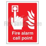 400mm X 300mm Rigid Plastic Fire Alarm Call Point Sign