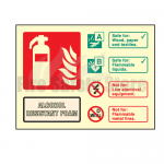Landscape Photo-luminescent Alcohol Resistant Foam Fire Extinguisher Sign