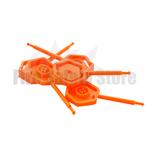 Orange Universal 4mm Fire Extinguisher Safety Pins (Pack Of 25)