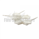 White Universal 4mm Fire Extinguisher Safety Pins (Pack Of 25)