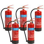 6Kg ABC Dry Powder Fire Extinguishers X5