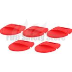Plastic Fire Bucket Lids x5