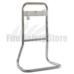 FireChief Tubular Double Fire Extinguisher Stand - Chrome