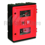 Lockable Double Fire Extinguisher Cabinet