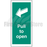 Pull to Open Self Adhesive Door Sign 300mm x 100mm