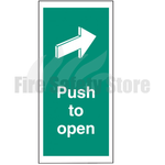 Push to Open Self Adhesive Door Sign 300mm x 100mm
