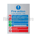 200mm X 150mm Prestige Public Fire Action Sign 4