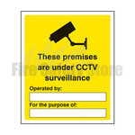 400mm x 300mm Rigid Plastic These Premises Are Under CCTV Surveillance Sign