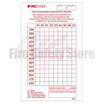 Firechief Tie-on Service Tag 2020 Dated, 130 x 70mm (Pack of 50)