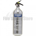 FireChief 1818 Polished Chrome 2kg ABC Powder Extinguisher