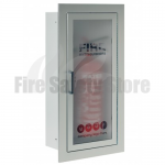 FireChief Arc Aluminium Recessed Single Fire Extinguisher Cabinet