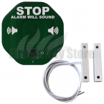 Green STI-6402-G Exit Stopper Multi-function Door Alarm