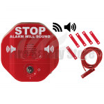 Red STI-6402WIR Wireless Exit Stopper Multi-function Door Alarm for Double Door