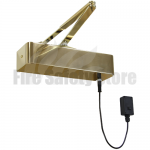 Rutland Responder 24 Electromagnetic Fire Door Closer - Polished Brass