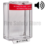 Red STI-13120FR Surface Mount Universal Fire Alarm Stopper with Sounder