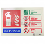 Landscape Photoluminescent M28 Powder Fire Extinguisher Sign