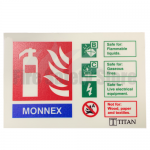 Landscape Photoluminescent Monnex Powder Fire Extinguisher Sign