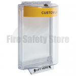 Yellow STI-13020CY (STI-6532CY) Flush Mount Universal Fire Alarm Stopper with Sounder