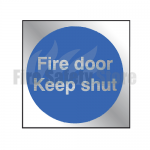 90mm X 90mm Prestige Fire Door Keep Shut Sign