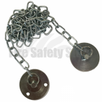 Metal Keeper Plate with 1 Metre Chain