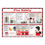 Fire Safety Laminated A2 Poster