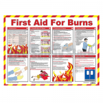 First Aid for Burns A2 Poster