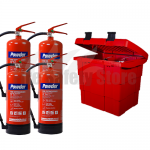 Commander Safety Box & 4 x Commander 6kg Dry Powder Fire Extinguishers