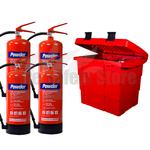 Commander Safety Box & 4 x Commander 6kg Dry Powder Fire Extinguishers