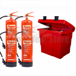 Commander Safety Box & 4 x Commander 6ltr Foam Fire Extinguishers