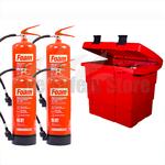 Commander Safety Box & 4 x Commander 6ltr Foam Fire Extinguishers