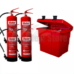 Commander Safety Box & 4 x Commander 6ltr Water Fire Extinguishers