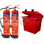 Commander Safety Box, 2 x Commander 6ltr Foam & 2x Commander 6kg Dry Powder Fire Extinguishers