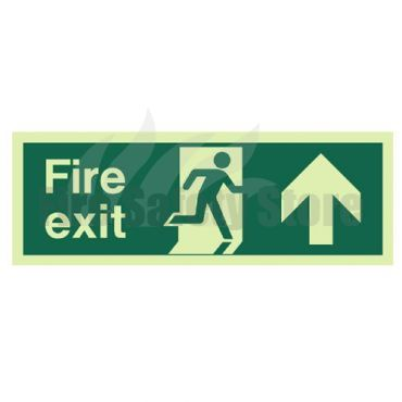 300mm X 100mm Photoluminescent Fire Exit Ahead Sign