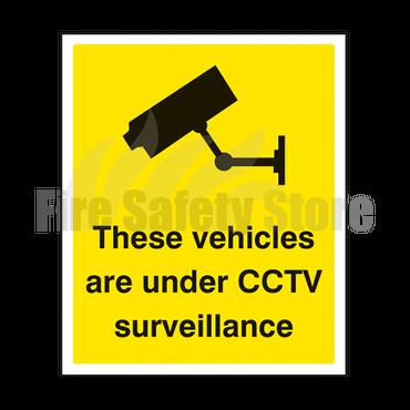 300mm x 250mm Rigid Plastic These Vehicles Are Under CCTV Surveillance Sign