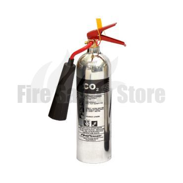FirePower 2Kg Polished Co2 Fire Extinguisher