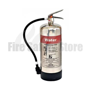FireGuard Polished 9 Litre Water Fire Extinguisher
