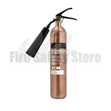 Contempo Antique Copper 2Kg Co2 Fire Extinguisher