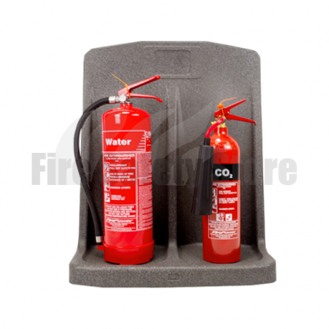 Double Grey Fire Extinguisher Stand