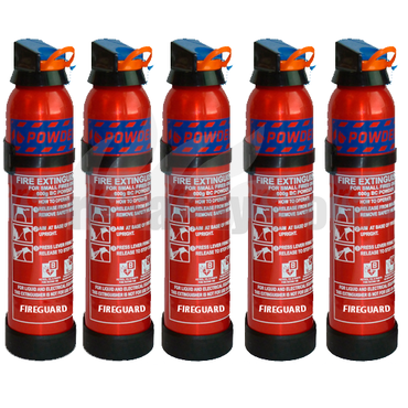 600g BC Dry Powder Fire Extinguishers x5
