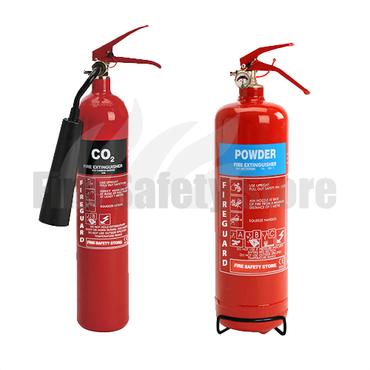 FireBlast 2kg ABC Dry Powder Fire Extinguisher & FireBlast 2kg CO2 Fire Extinguisher