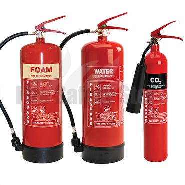 6Ltr AFFF Foam, 6Ltr Water & 2KG CO2 Fire Extinguishers