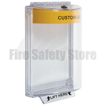 Yellow STI-13020CY (STI-6532CY) Flush Mount Universal Fire Alarm Stopper with Sounder