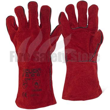 Red Welders Gauntlet