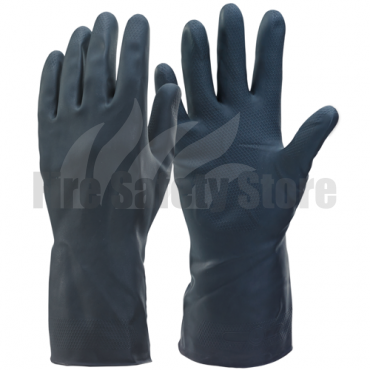 House Hold Heavyweight Latex Gloves Black