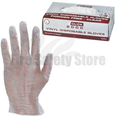 Powder Free Vinyl Disposable Gloves (Box of 100)